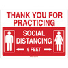 Social Distancing Sign 6 feet