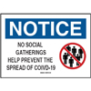 No Social Gatherings Custom Signs