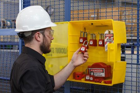 Brady Lockout Tagout Device Station