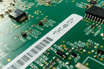 Brady Label B-727 designed for PCBs and components