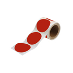 Roll of social distancing adhesive dots for floor marking