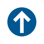 social distancing directional floor sign example