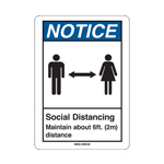 social distancing wall sign example